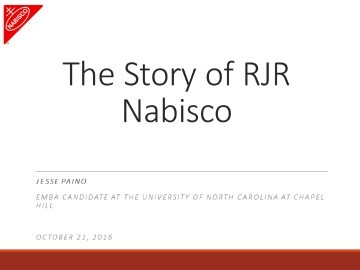 The Story of RJR Nabisco