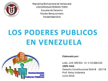 LOS PODERES PUBLICOS EN VENEZUELA