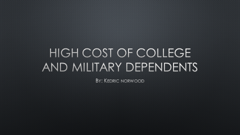 Helping Military Dependents With College Tuition