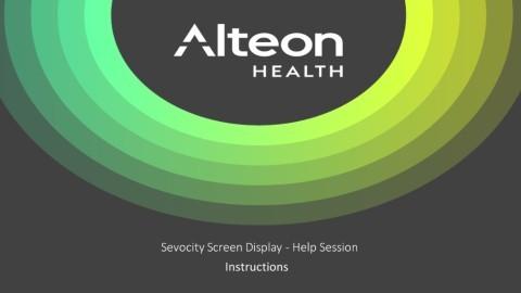 Sevocity Screen Display – Help Session