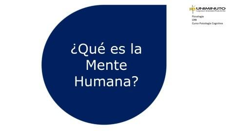 Que es la mente humana