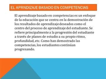 EL APRNDIZAJE BASADO EN COMPETENCIAS diapositivas