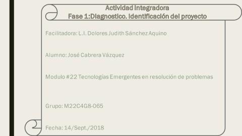 Actividad Integradora Fase1 Diagnostico identificacion del proyecto