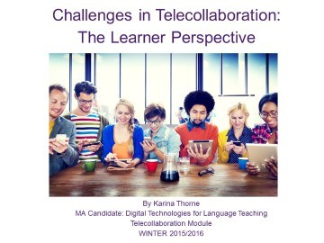 Challenges in Telecollaboration: The Learner Perspective