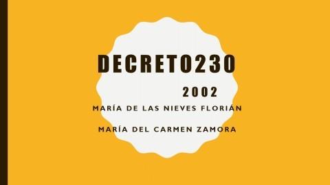 Decreto 230 2002