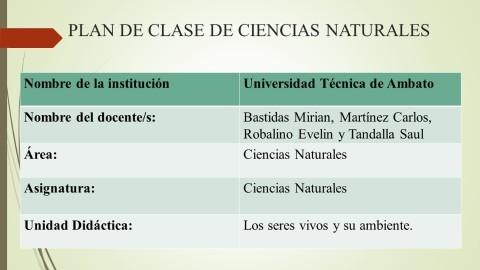 Plan de clase.