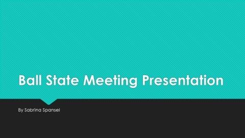 Spansel – INT625 Ball State Presentation