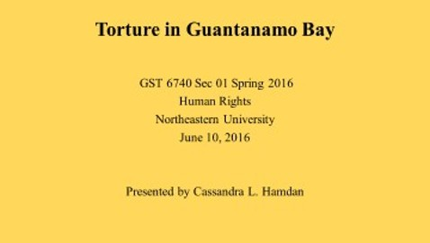 Torture in Guantanamo Bay