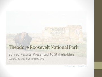 Theodore Roosevelt National Park Survey