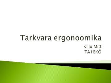Tarkvara Ergonoomika