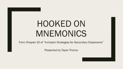 Hooked on Mnemonics