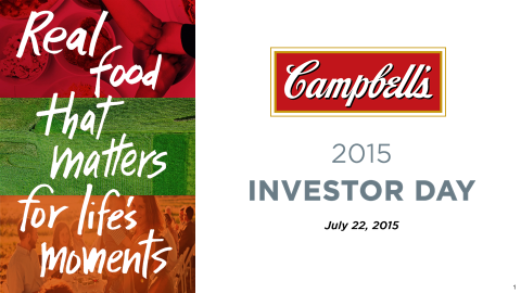 Campbell Soup Company: Investor Day 2015
