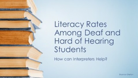 Literacy rates among deaf students