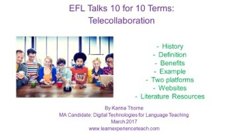 EFL Talk 10 in 10 Terms – Telecollaboration