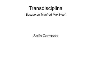 Fundamentos de Transdisciplina