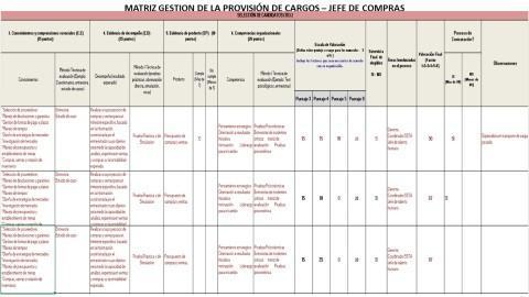 MATRIZ GESTIÓN DE LA PROVISIÓN DE CARGOS
