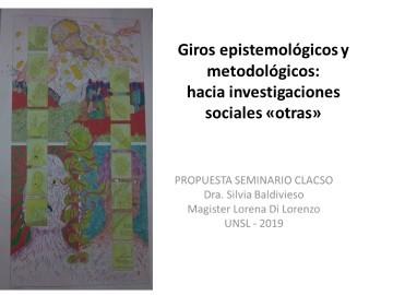 Giros epistemológicos y metodológicos – seminario