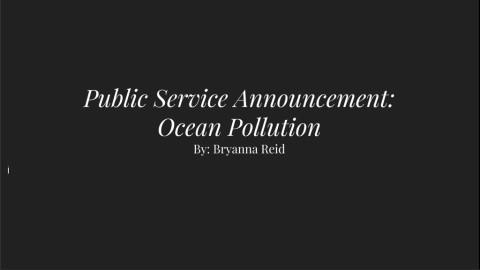 PSA: Ocean Pollution