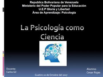 Presentación de Psicología/ Cesar Rojas