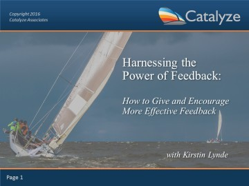 Harnessing the Power of Feedback