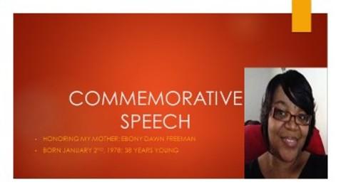 Commemorative Speech on my mom Ebony Freeman | Present-it com