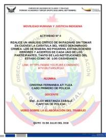 MODULO DE MOVILIDAD Y JUSTICIA INDIGENA