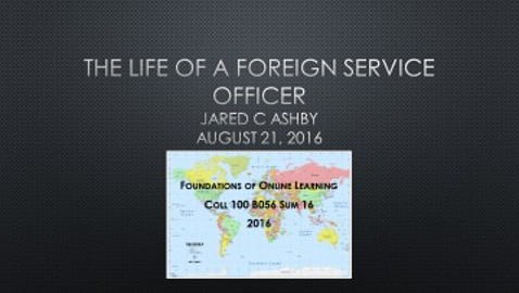 The Life of a Foreign Service Officer