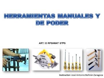HERRAMIENTAS MANUALES Y DE PODER