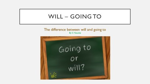will – going to