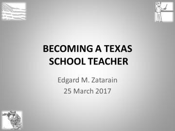 Becoming a teacher in Texas (veterans)