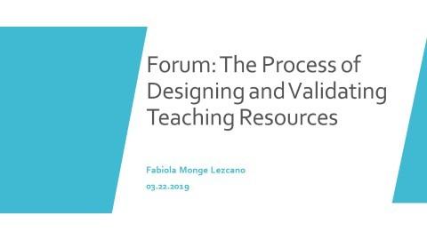 Fabiola's Video for Forum