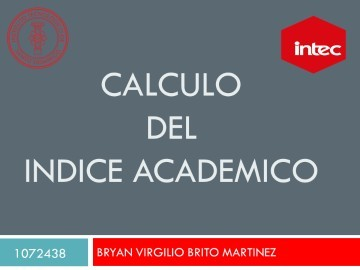 Calculo del indice academico