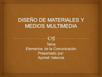 DISEÑO DE MATERIALES Y MEDIOS MULTIMEDIA