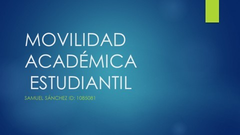 Movilidad Academica Estudiantil