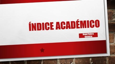 indice academico