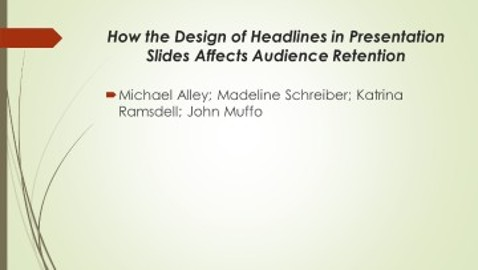 Headlines in Presentations