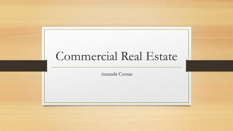 Commercial Real Estate presentation