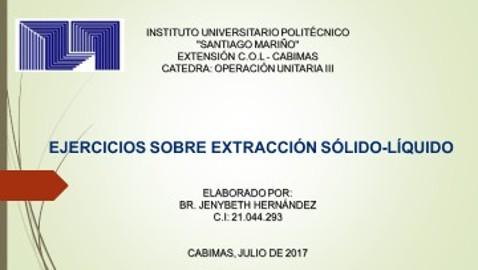 Jenybeth Hernandez Ejercicios extraccion solido – liquido